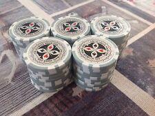 50 Laser Poker Chips, 1 The Ultimate, für Pokerkoffer Pokerset Metallkern schwer
