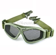 Dream Army Strike Steel Mesh Glasses Goggles for FAST Helmet / FG (KHM Airsoft)