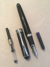 NEW JINHAO X750 BLACK CT FOUNTAIN PEN-M NIB-CONVERTER-INK CARTRIDGE-UK SELLER