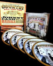 Country Music All The Way 5 CDS NEW Johnny Cash Willie Nelson,60 SONGS,ORIGINAL