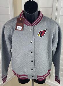 Mitchell & Ness Throwbacks NFL Arizona Cardinals Mens L Varsity Jacket, NWT $100