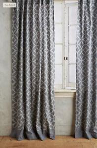 NEW Anthropologie Concave Diamonds Curtain Geometric Pattern 50 x 108 Panel
