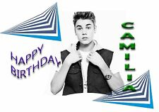 JUSTIN BIEBER young  - Personalised Birthday Greeting Card A5
