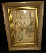 "Vintage Anton Pieck Framed Picture Book Maps Shop? 3D Diorama Art 4 1/4"" x 5 3/4"