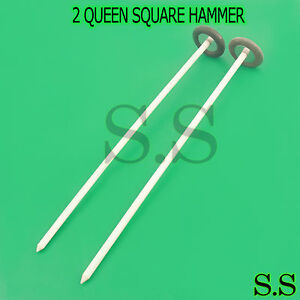 """NEW SET OF 2 EACH QUEEN SQUARE Hammer Medical Surgical Instrument 13"""" A+QUALITY"""