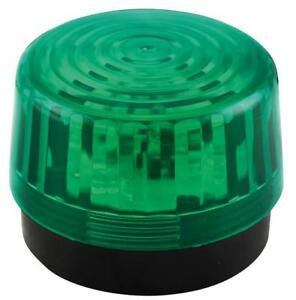 WARNING FLASHER LED 12V 100MM GREEN Automation Signaling HAA100GN PACK 1