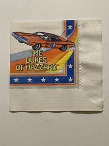 Dukes Of Hazzard General Lee 1981 Birthday Party Napkin RARE 1981