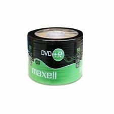 50 X Maxell DVD+R en blanco discos DVD regrabables Plus 16x 4.7 Gb shrunkwrap