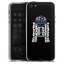 Apple iPhone SE Silikon Hülle Case - R2-D2 Typo