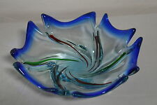 Vintage Murano Glass Leaf Large Fruit Bowl #14
