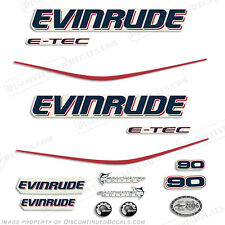 Evinrude 90hp E-Tec Outboard Decals - Engine Stickers 2004 2005 2006 2007 2008