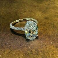 2.5Ct Oval Cut D/VVS1 Diamond Solitaire Engagement Ring 14K Yellow Gold Finish