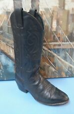 Justin style 1412 black leather cowboy boots size 6.5 EE