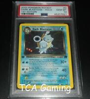 PSA 10 GEM MINT Dark Blastoise 3/82 1ST EDITION Team Rocket HOLO Pokemon Card