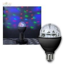 E27 Party Birne RGB LED rotierend, bunt Disko Effekt Farbwechsel Disco Strahler