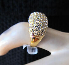 NEW ST JOHN KNIT SIZE 8  WOMENS DESIGNER JEWELRY GOLD RING  CRYSTAL CLUSTER