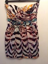 🌹 Lipsy🌹Size 12 Multi Bandeau Embellished Short Dress