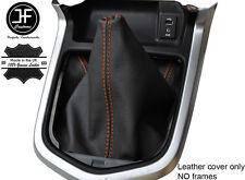 Naranja Cuero Cosido Manual Gear gaiter se ajusta Navara NP300 D23 2015-2017