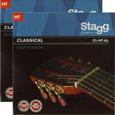 2x Gitarrensaiten Konzert-/Klassik-Gitarre Nylon Saiten High Tension Seiten HT