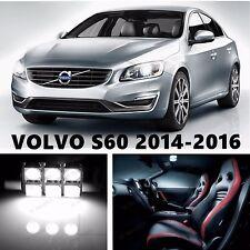 16pcs LED Xenon White Light Interior Package Kit for VOLVO S60 2014-2016