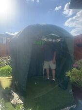 Fishing over brolly 2 man shelter with door window