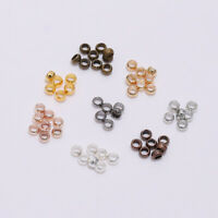 hot 500pcs Rondelle Crimp End Finding Stopper Spacer Beads For DIY Jewelry new