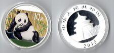 China 10 Yuan 2015 Panda 1 oz silver ounce colored