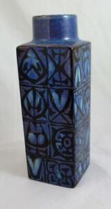 ROYAL COPENHAGEN Nils Thorsson Fajance Baca Vase in Blue Colourway 704/3259