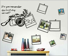 Camera Frame Wall Deco Vinyl Stickers DIY Removable Art Mural Travel Decal Au