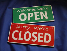 Open-Closed Sign - Custom Made to Order - Hanging Signs