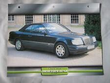 Mercedes E320 Dream Cars Card
