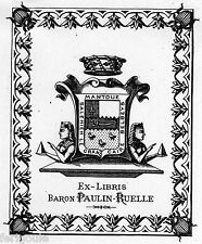 EX-LIBRIS de Raymond PAULIN-RUELLE.