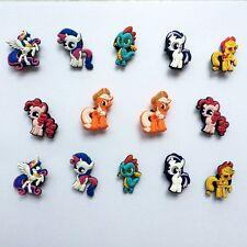 Cute New Ponies Shoe Charms Bracelets Charm Decoration for /Croc/Jibbitz 14pcs
