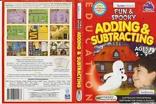 CD-Rom * Fun & Spooky Adding & Subtracting * 2003 Education Software Windows/Mac