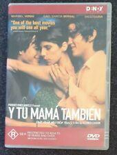 Y tu mama tambien (Dvd, 2001) Gael Garcia Bernal Diego Luna Region 4 Free Postag