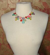 NWT Kate Spade gumdrop gems multi-color stones statement necklace