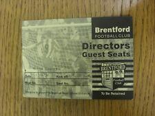 Billete De 13/04/1996: Notts County Brentford V [directores invitados Asientos] (agujero básico