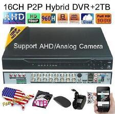 16Ch AHD Hybrid CCTV DVR 1080P NVR Video Recorder for IP/AHD/Analog Camera +2TB