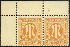 "Bizone Mi. 13AxPl.-Nr.** waagr. Luxus-Paar m. Platten-Nr. ""1C"" (204,-€)(9267/30)"