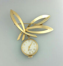 ELEGANT VINTAGE GIRARD PERREGAUX LADIES LAPEL PENDANT PIN WATCH – UNUSUAL