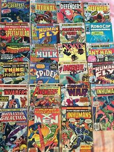 VTG Marvel Comic Books Lot Of 23