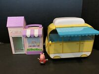 Peppa Pig & Bakery Shop Little Places Playset & Camper Van Retractable Awning