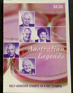 Australian Stamps: 2002 - Australian Legends Booklet - Medical Scientists