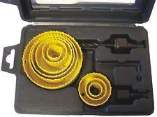 Lochsägen-Set mit festen Bohrkronen 12-teilig, 19-22mm