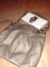 COACH Ashley Bronze Leather Hippie Bag & SOHO Ivory w/Gold Trim Leather Wallet