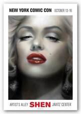 Marilyn, Red Lips (New York Comic Con) Shen Art Print 15x12