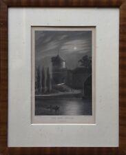 NEUSTADT GLEWE - DAS ALTE SCHLOSS - MECKLENBURG  -  POPPEL UND KURZ - 32 x 26 cm