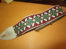 Vintage Circa 1960's ACE Guitar Leather Strap Clapton Cool Vibe and Pattern!!