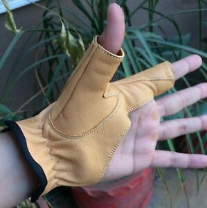 Bow / Archery Shooting Leather Gloves Top quality Gloves 100% Real leather