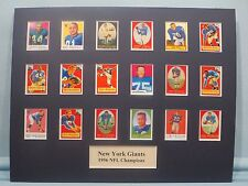 New York Giants led by Frank Gifford & Sam Huff - 1956 NFL Champions